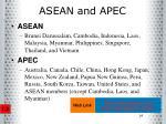 asean and apec