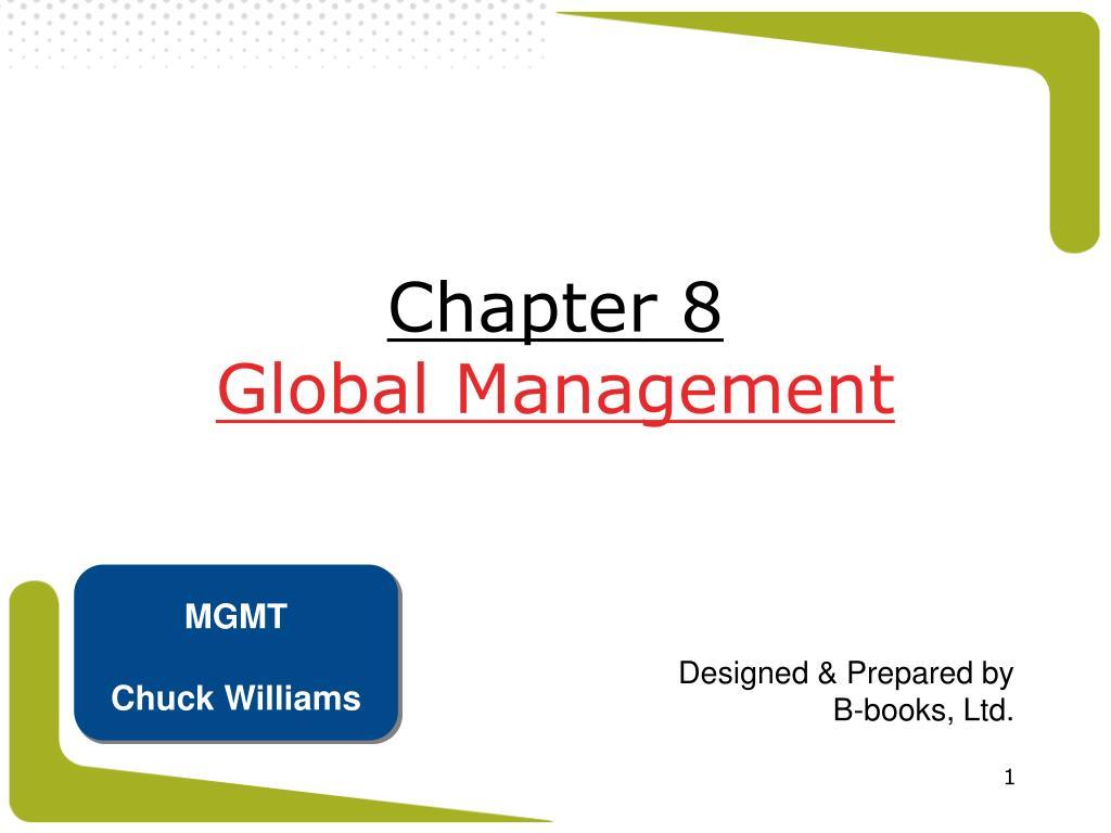 chapter 8 global management l.