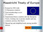 maastricht treaty of europe