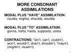 more consonant assimilations