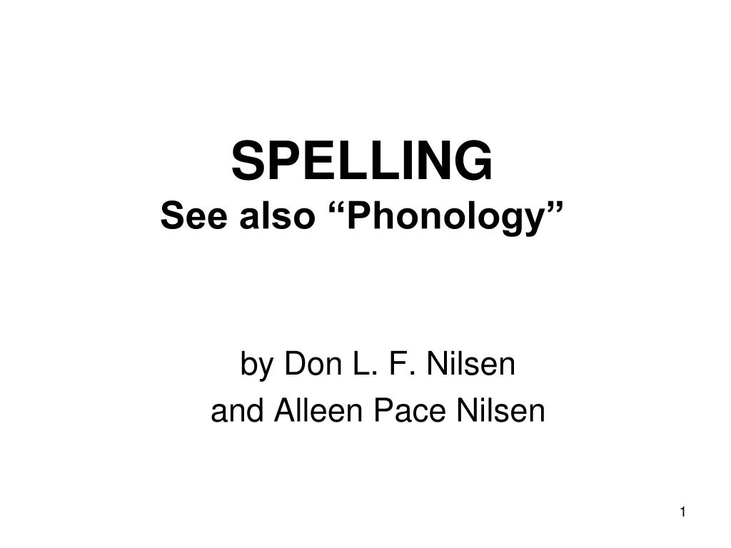 spelling see also phonology l.