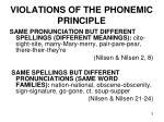 violations of the phonemic principle