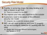 security risk model