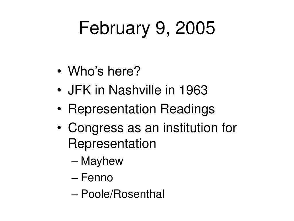 february 9 2005 l.
