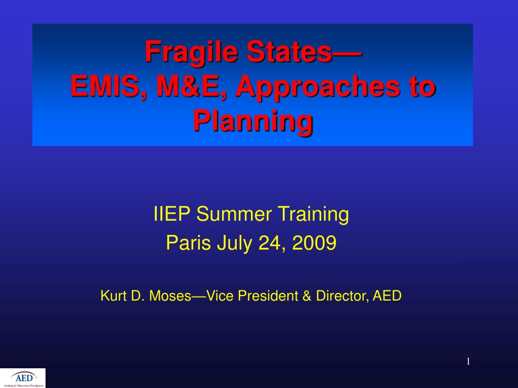 fragile states emis m e approaches to planning l.