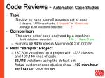 code reviews automation case studies