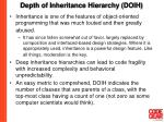 depth of inheritance hierarchy doih