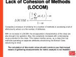 lack of cohesion of methods locom38