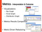 metrics interpretation outcome