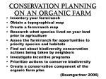 conservation planning on an organic farm