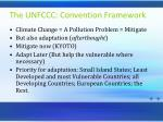 the unfccc convention framework