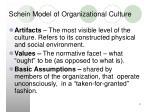 schein model of organizational culture