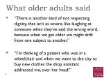 what older adults said6