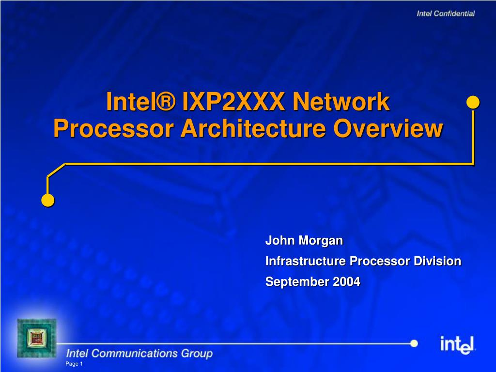 intel ixp2xxx network processor architecture overview l.