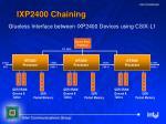 ixp2400 chaining