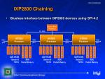 ixp2800 chaining