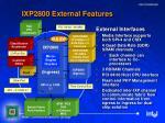 ixp2800 external features