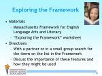 exploring the framework