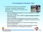 pre kindergarten standards why