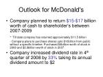 outlook for mcdonald s26