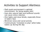 activities to support alertness