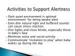 activities to support alertness