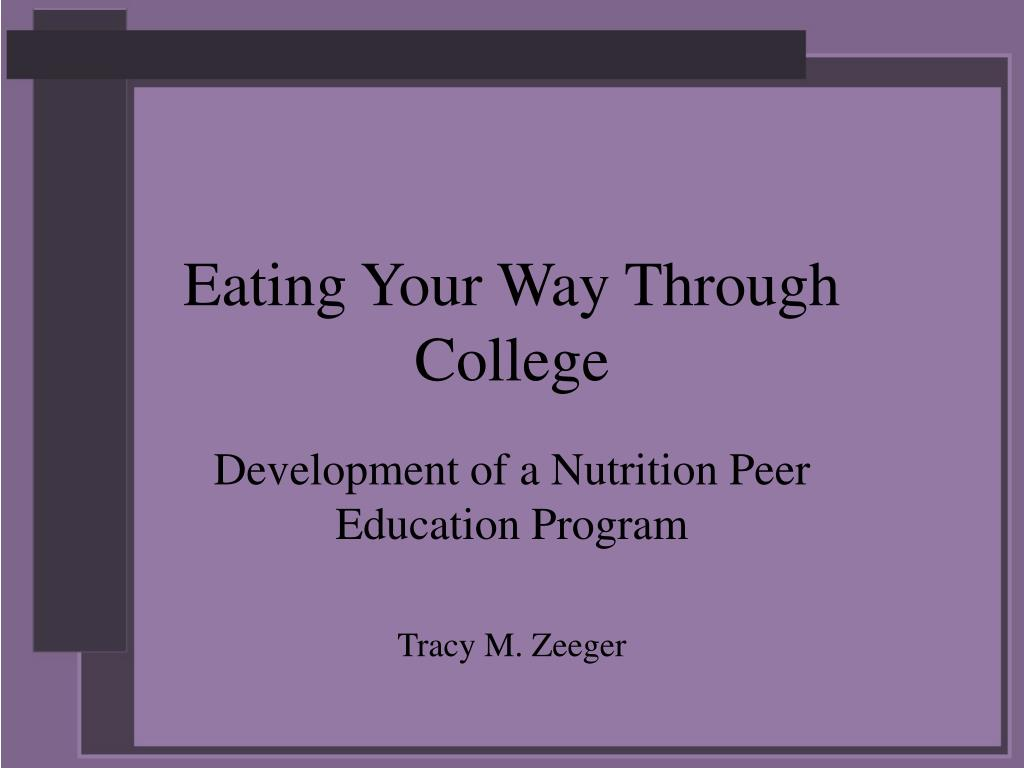 eating your way through college l.
