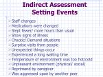 indirect assessment setting events21