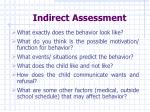 indirect assessment