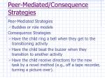 peer mediated consequence strategies
