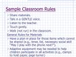 sample classroom rules