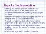 steps for implementation