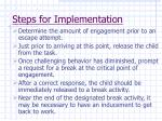 steps for implementation57