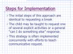 steps for implementation59