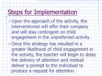 steps for implementation63