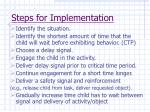 steps for implementation66