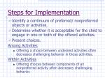 steps for implementation68