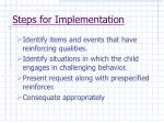 steps for implementation70