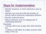 steps for implementation72