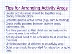 tips for arranging activity areas41