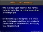 hyvet trial limitations