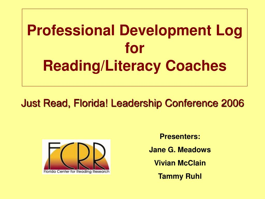 professional development log for reading literacy coaches l.