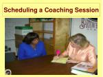 scheduling a coaching session
