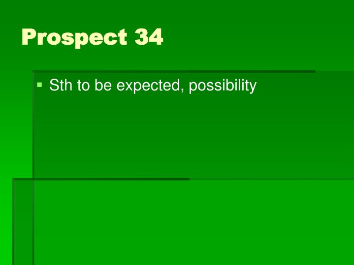 Sth to be expected, possibility