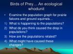birds of prey an ecological whodunit