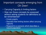 important concepts emerging from oh deer