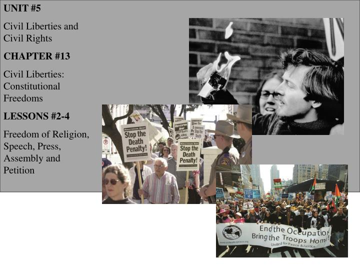 the examples of civil liberties and civil rights