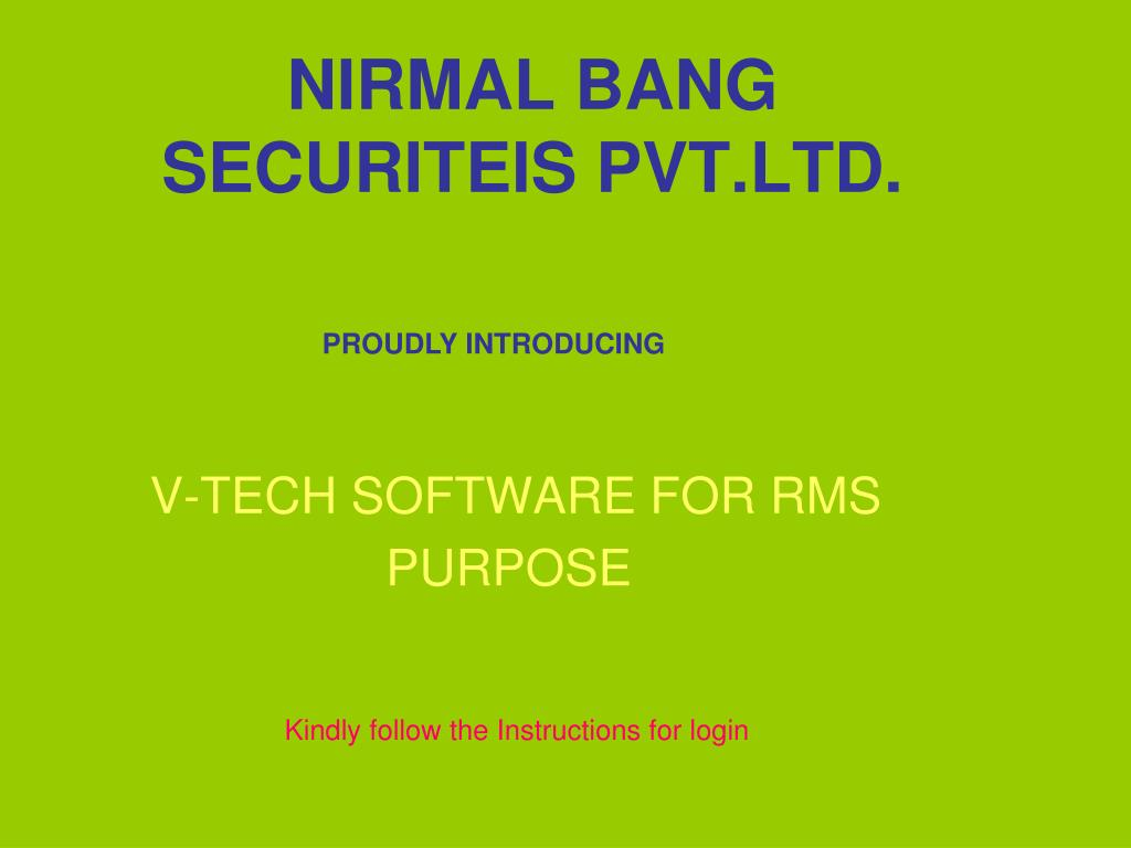 nirmal bang securiteis pvt ltd l.