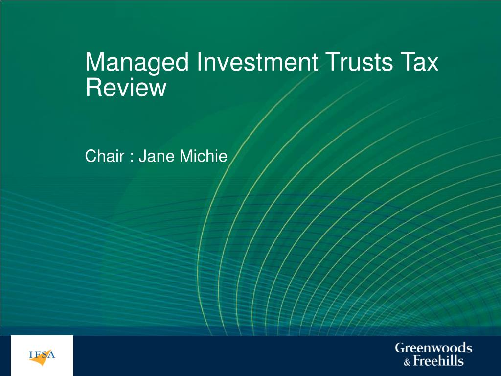 managed investment trusts tax review l.