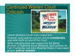 continued warren court criticism